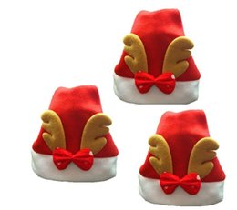 Wholesale Flocked Cloth - 2017 New Christmas Decoration Hats High-grade Christmas Hat Santa Claus Hat Cute Kids Christmas Cosplay Hats