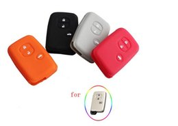 Wholesale Toyota Camry Remote Cover - Car Silicone for Toyota Land Cruiser Camry Highlander Crown Prado Prius Car Keychain case flip key set jacket Cover case remote