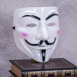 Wholesale mask v vendetta pvc - Masks V For Vendetta Multi Function Halloween Masquerade Decorative Articles Dress Adult Costume Accessory Party Cosplay Mask 0 9yk J R