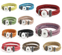 Wholesale 18mm Wristband - 11 Styles Charm Bracelets Noosa Trendy Bracelet Snap Button Jewelry Wristband Fit 18mm Snap Buttons Costume Jewelry Gift E733L