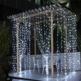 Wholesale Led Waterfall String Lights - 6m * 3m 640 Led Waterfall String Curtain Light Leds Water Flow Christmas Wedding Party Holiday Decoration Fairy String Lights waterproof
