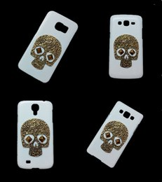 Wholesale Galaxy S3 3d Cases - 3D Vintage Retro Bronze Skull Skeleton Punk Rivet Stud Hard Back Cover Case for Samsung Galaxy S2 S3 S4 S5 S6 Edge Plus S6 Active S7 S7 Edge