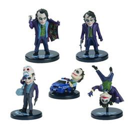 """Wholesale Captain Action Batman - Batman The Joker PVC Action Figure Collection Toy Keychain or Model Toy 5pcs set 2"""" about 5cm"""