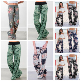 Wholesale Children S Winter Pants - 5 Styles New Parent Child Clothing Lady Floral Striped Cotton Yaga Long Trousers Plus Wide Leg Pants Maternity Supplies CCA7383 100pcs