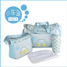 Wholesale Mom Bag Set - Nappy bags sets High Quality Tote Baby Shoulder Diaper Durable Mummy Mother Baby Bag for mom nappy diaper bag