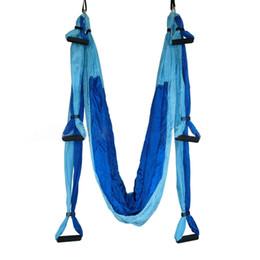 Wholesale Exercise Stretch Resistance Bands - Multifunction Anti-gravity Yoga swing Fitness Exercise Yoga Hammock Gym Yoga belt Stretch Yoga Strap Bed Training 250*150cm