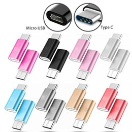 Wholesale micro usb plug connector - Type C Adapter Converter Male to Micro USB Female Adapter Converter Connector USB-C For Samsung galaxy s8 s8 plug note 5 lg g5 type c phone