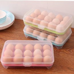 Wholesale Plastic Kitchen Containers - Single Layer Durable Multifunctional Kitchen Tool 15 Grids Eggs Food Container Organizer Convenient Storage Boxes