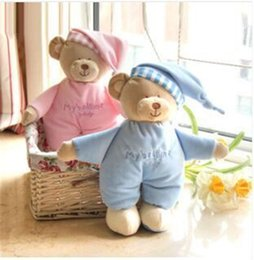 Wholesale Product Safety For Baby - Wholesale-Baby plush bear toy soft gift for baby child newborn product boy girl safety free shipping