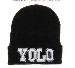 Wholesale Wholesale Winter Hats Custom - Fashion Men Hip Hop YOLO Letter Snapback Beanies Hip Hop Winter Brand Design Custom Knitting Skull Beanie Caps for Women Hats Hot Style