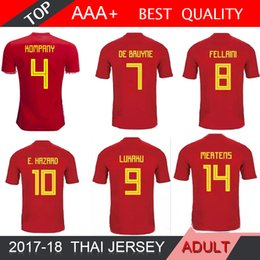 2018 Belgium world cup soccer jersey LUKAKU FELLAINI E HAZARD NAINGGOLAN DE  BRUYNE Soccer Jersey 18 19 Belgium Thailand Quality 4d530c23f
