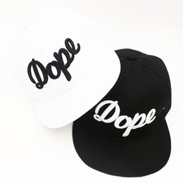 Wholesale Sell Spring Letter - Hot selling dope snapback hip hop hat fitted cool baseball caps for men women white black hat