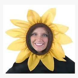 Wholesale Classic Headgear - free shipping 2017 new Performance Props sunflower headgear Adult children party costumes accessories cosplay caps student party decoration
