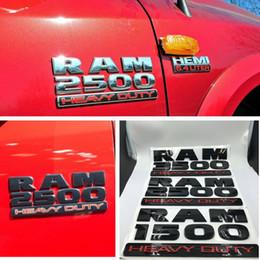 Wholesale doors dodge - Ram 1500 2500 3500 Logo Lettering Emblem Badge Name Plate Set of Two For Dodge Ram