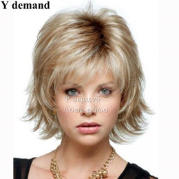 Wholesale Short Wigs For Women Blonde - Fashion Pixie Cut Synthetic Wigs Short Fluffy BOB Blonde Hair Wig For Women Full Wigs In Stock High Temperature Fiber