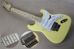 Wholesale Stratocaster Electric - high quality cream yellow scalloped maple fingerboard Yngwie Malmsteen Signature stratocaster electric guitar.