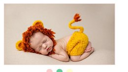 Wholesale Handmade Baby Pants - Newborns hat and pants set lion style handmade knitted baby girls boys photography props costume baby clothing