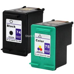 Wholesale Wholesale Hp Cartridges - 2pk Ink Cartridge For HP 74 75 HP74 HP75 Photosmart C4210 C4385 C4599 C4240 C4410 DJ D4500 D4268 C4250 C4280 C5540 Printer