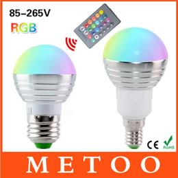 Canada E27 Standard Vis Base RGB Multicolore LED Lumière 24Key Télécommande Dimmable Lampe Économie D'énergie Humeur Ambiance Éclairage Offre