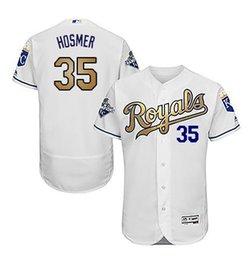 Wholesale Wholesale Order World - New Royals Gold Program Men's Kansas City KC Royals Jersey Perez Majestic White world Series Champions zack greinke royals Jerseys Mix Order