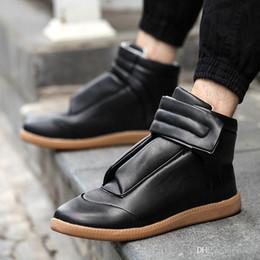 Wholesale Ups Maison - 2016 high Quality Maison Martin Margiela Casual Shoes Lace Up Flats Men Genuine Leather Leisure Flat Shoes fashion tenis shoes