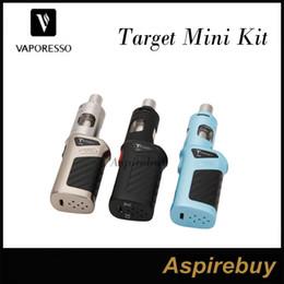 Vtc mini kit online-Vaporesso Target Mini Kit 40W VTC-Starterkit 2ML Vaporesso Guardian Tank mit 40W Target Mini Mod Cell Keramikspule Top-Fill 100% Authentic
