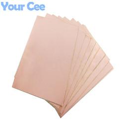 Wholesale Pcb Copper Plates - Wholesale-10 pcs Double Side PCB Epoxy Fiber Copper Clad Plate Laminate Laminating 200*150*1.6mm DIY Electronic