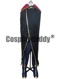 Wholesale Cosplay Geass - Code Geass Cosplay Zero Lelouch Cosplay Costume Suit Anime Cosplay - Any Size P002