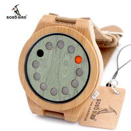 Wholesale Bamboo Bird - 2016 New Designer Fashion Mens Watches Business Bamboo Wooden Watch Luxury Brand BOBO BIRD Casual Clock Relojes Hombre