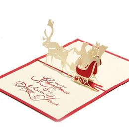 Canada Creative 3D Pop Up Carte De Voeux Artisanat Papier Coupé Voiture De Mariage Pour Mariage Fête Des Mères De Noël Livraison Gratuite cheap pop up cards free shipping Offre