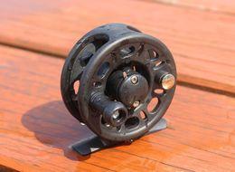 Wholesale Plastic Fishing Reels - Fishing Reels 2+1 Bearing Right Hand with Drag Plastic Fly Reel Fish Line Wheel 40 50 60
