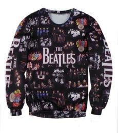 Wholesale Beatles T Shirts Women - 2016 Hot Fashion The Beatles Collage Couples Sweatshirt Women Men T-shirt Unisex Full Tee 3D Print Tops Casual Shirt T shirt