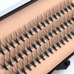 Wholesale Long Black Hair - High Quality Fashion 60pcs Professional Makeup Individual Cluster Eye Lashes Grafting Fake False Eyelashes with Free Shipping