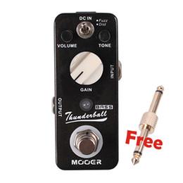 Wholesale Mooer Guitar Effects - Mooer ThunderBall Bass Fuzz And Dist Guitar Effect Pedal Full Metal Shell True Bypass MU0733