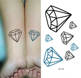 Wholesale Tattoos Designs Sexy Eyes - Wholesale- 2015 new design portable waterproof body temporary tattoos tattoo sexy diamond pattern