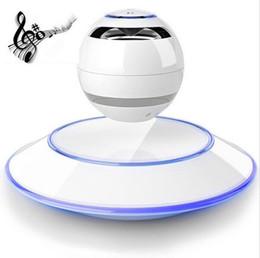 Deutschland Stereo Sound Portable Magnetschwebe Lautsprecher Wireless Floating Orb Bluetooth Lautsprecher LED für Handy MP3 Versorgung
