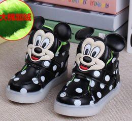Wholesale Animals Shoes Kids - Boys Girls Shoes Sneakers Kids Dot Luminous Shoes Winter Autumn Children Casual Athletic Shoes Baby Luminous Flat Sneakers