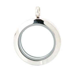 Wholesale Plain Circle Charm - 25mm magnet 10pcs plain stainless steel Memory living glass locket pendant , glass locket floating charms for floating charms