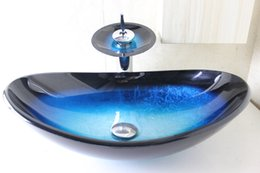 Wholesale Hand Painted Wash Basin - clear tempered glass basins for bathrooms glass bathroom vanity Modern Design Mirrored Tempered Glass Wash Basin N-779