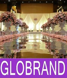 Wholesale Carpets Runners - 10m Per lot 1.2m Wide Shine Silver Mirror Carpet Aisle Runner For Romantic Wedding Favors Party Decoration 2016 New Arrival G0L326