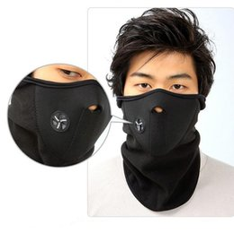 Wholesale Face Hoods - 3 pcs Outdoor Sports Fleece Face Mask Winter Warm Motorcycle Ski Snowboard Hood Windproof Neck Warmer Masks