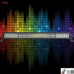 Wholesale Green Atv Light Bar - The Newest Light Sourcing RGB Control By Android IOS App 31.5 Inch White Red Blue Yellow Purple Green 180W Light Bar For Offroad SUV ATV 4*4