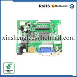 Wholesale Vga Lvds Controller - Wholesale- Universal HDMI VGA 2AV 50PIN TTL LVDS Controller Board Module Monitor Kit for Raspberry PI LCD AT070TN92 tn90 94 Panel freeship