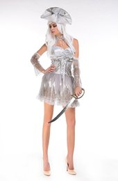 Wholesale Goddess Bride Dress - The new Halloween zombies Female the ghost bride role Hell goddess girls pirate ghost bride dress