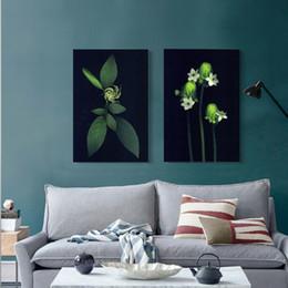Canada 2pcs No Frame Wall Art Photos Chic Élégant Abstrait Fleur Floral Imprimé Sur Toile Peintures Décoration de La Maison Pour Salon Modulaire Offre