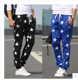 Wholesale Harem Dance Man - 2016 New hot sale Men's Pants Star Printing Hip Hop Sweat Pants Harem Dance Jogger Baggy Trousers Slacks Men Jogging Sport Pants Man