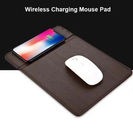 Wholesale Iphone Wireless Mouse - New Design Wireless Charging Mouse Pad Multi-functional Inductive Charger for iPhone X 8 Samsung S8 Plus Note 8 QI Wireless Charger Pad
