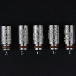 Wholesale Avengers Thor - Captain American Spiderman Hulk Thor Iron Man Stainless Steel 510 Ego drip tips Avengers drip tip metal ss mouthpiece for e cig vape