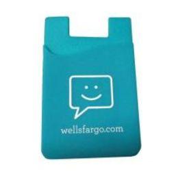 Samsung logo stickers online-Alta calidad Logotipo personalizado teléfono celular 3m titular de la tarjeta adhesiva titular de la tarjeta de crédito empresarial titular de la tarjeta de silicona con 3m para iphone / samsung