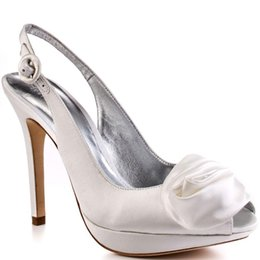 Wholesale Women Straps Ons - White Slip-ons Wedding Sandal For Women Open Toe Sandal For Women Thin High Heels Wedding Shoes Designer Shoes Women 2015 Made-to-order